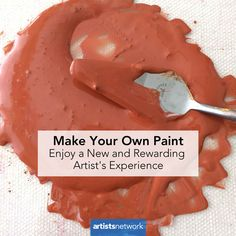 Discover how to make your own paint and get closer to your creative process! Homemade Watercolors, Homemade Paint, Make Your Own, Make It Yourself, Artist Supplies, Acrylic Pouring Art, How To Make Paint, Nature Paintings, Face Paintings