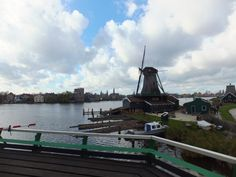 view from a windmill at Zaanse Schans (by pingwynne)