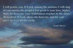 Psalm 108:3-5