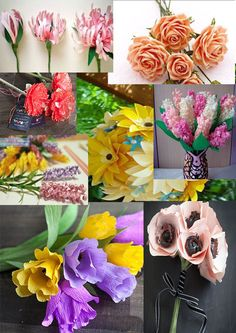 Laboratori per bambini : fiori fai da te , lavoretti di creatività e riciclo originali