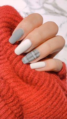 66 Natural Summer pink Nails Design For Short Square Nails – – Gif Life Fall Acrylic Nails, Acrylic Nail Designs, Stylish Nails, Trendy Nails, Summer Gel Nails, Plaid Nails, Nagellack Design, Nail Art Designs Videos, Nail Art Videos