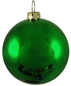 "Shatterproof Shiny Emerald Green Christmas Ball Ornament 10"" (250mm)"