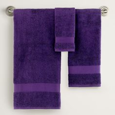 Mysterioso Purple Bath Towel Collection