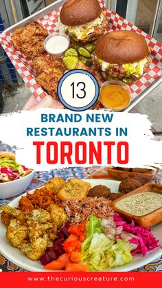 Toronto has such an incredible culinary scene and so many great restaurants that feature foods from every culture. If you're looking for a new place to check out now that thing's are opening in Toronto, here are 13 brand new restaurants that opened their doors this year! You definitely won't want to miss checking out these new Toronto restaurants. Toronto Hotels, Toronto Travel, Ontario Travel, Toronto Island, Canadian Travel, Travel Vlog, Prince Edward Island, Quebec City, Great Restaurants