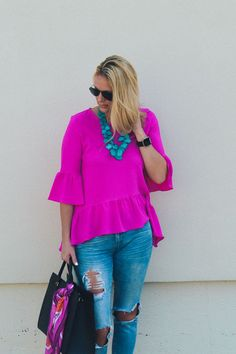 Hot Pink Is In For Fall | Style in a Small Town