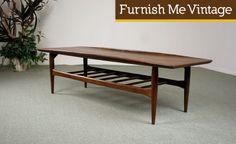 Mid Century Danish Style Bassett Coffee Table|Furnish Me Vintage