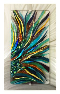Art glass with frits and powders