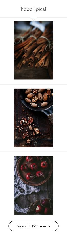 """""""Food (pics)"""" by asia-12 ❤ liked on Polyvore featuring pictures, photos, images, food, backgrounds, autumn, photo, home, kitchen & dining and pics"""