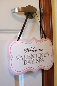 Valentine's  Spa  party  printables  www.itsybelle.com