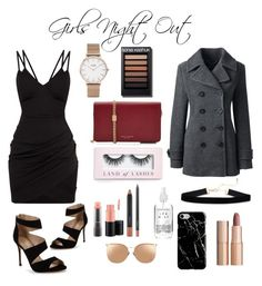 """""""girls night;)"""" by kacislays78 ❤ liked on Polyvore featuring Boohoo, CLUSE, MAC Cosmetics, A Weathered Penny, Marc Jacobs, Carvela, Linda Farrow, Charlotte Tilbury, Recover and Lands' End"""