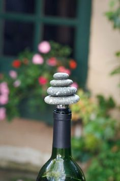 """Rock Cairn Wine Bottle Stopper- Set of 2 (Grey) (4""""H x 4""""W x 4""""D) by Garden Age Supply. $45.99. Color: Grey. Size: 4""""H x 4""""W x 4""""D. Impress your friends with the elegant Rock Cairn Wine Bottle Stopper. This wine cork is made of cairn stones which represent friendship, hope, and safety. They are also used to mark wilderness paths. This wine cork is a great addition to your wine accessories Comes as a set of two Assembly level/degree of difficulty: No Assembly Required."""