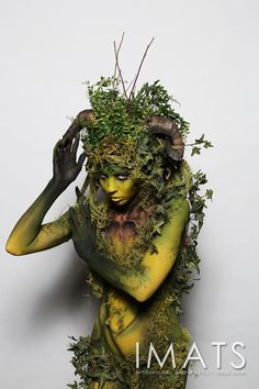 IMATS Make-up Artists, Exhibitors and Enthusiasts Trade Show Fantasy Makeup, Fantasy Art, Cosplay, Mother Nature Costume, Tree People, Forest Creatures, Forest Fairy, Special Effects Makeup, Costume Makeup