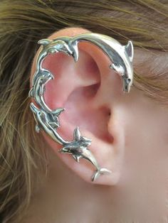 Dolphin Ear Piercing Cartilage Wrap Jewelry #earrings #piercing #cartilage www.loveitsomuch.com