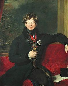 George IV, Prince Regent, later King of the United Kingdom of Great Britain and of Hanover; by Sir Thomas Lawrence, c. 1822. He was the eldest son of King George III of Great Britain.