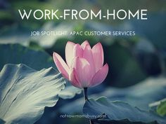 Work-from-Home Job Spotlight: APAC Customer Services - Not Now Mom's Busy #workfromhome #jobs  Know More http://themillionairemastermind.com/