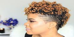 Short Natural Black Hairstyles with Finger Coil Style