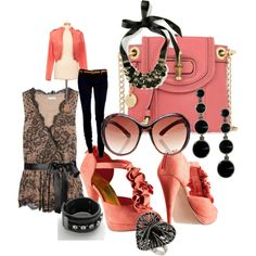 luv luv luv everything! maybe even some zipper high heel ankle boots - perfect necklace already must tailor outfit like this around it!