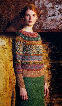 beautiful knit: Anatolia from Rowan Mag pattern by Marie Wallin, knit by Dayana Knits Rowan Knitting, Fair Isle Knitting, Hand Knitting, Knitting Designs, Knitting Projects, Knitting Patterns, Moda Crochet, Knit Crochet, Laine Rowan