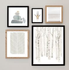 Winterize your space with a seasonally themed gallery wall from Minted's collection of wall art prints.