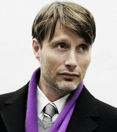 Love the purple, Mr Mikkelsen.