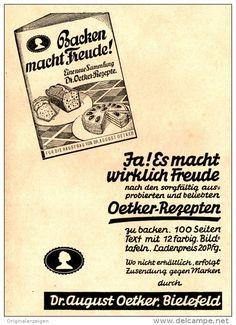 Original-Werbung/ Anzeige 1936 - BACKEN MACHT FREUDE / DR. AUGUST OETKER - BIELEFELD - ca. 110 x 150 mm