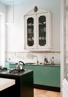 Old detail in a modern kitchen