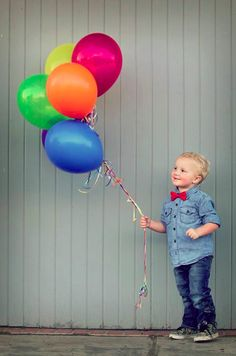 cute picture...maybe with as many balloons as they are old!