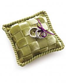 Woven Ribbon Ring Pillow How-To - Martha Stewart Weddings Inspiration