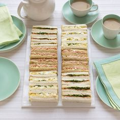 Tea sandwiches make great snacks for kids' parties because they're small, easy to serve and fun to eat.