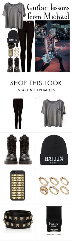 """""""Guitar lessons from Michael"""" by heyitskerstinlynn ❤ liked on Polyvore featuring MANGO, Clu, Pull&Bear, Brian Lichtenberg, ASOS, Valentino and Butter London"""