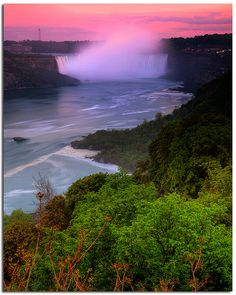 Niagara River in Canada. My mother-in-law is from Canada and I have every intention of going here someday.