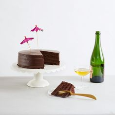Classic Chocolate Cake with a glass of wine at the end of a hectic day at work? We're game!