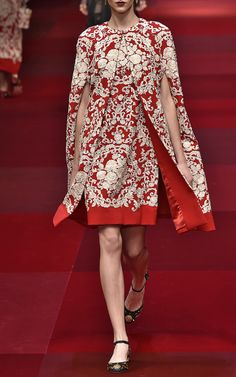 Embroidered Cady Cape by Dolce & Gabbana for Preorder on Moda Operandi