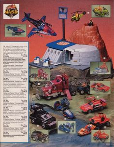 M.A.S.K. toys: 1985 Christmas Catalog ad for the first series.