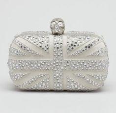 Alexander McQueen Crystal Britannia Box Clutch Bag Gray silver.jpg