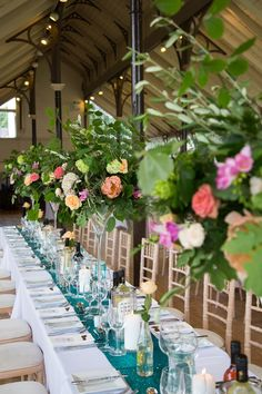 Wedding day decorations. Wedding reception inspiration. Wedding Flowers. Click on the image to see the full gallery of this Real Wedding: A Relaxed Celebration in Northumberland with Flawless Floral Arrangements