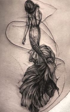 Mermaid Tattoo Designs, Tree Tattoo Designs, Mermaid Tattoos, Girl Tattoos, Arm Tattoo, Nature Tattoo Sleeve, Ocean Tattoos, Nature Tattoos, Elegant Tattoos