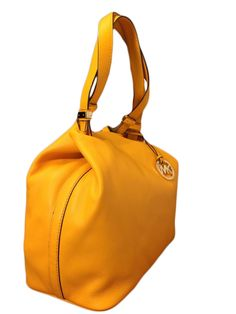 eee83f152381 Michael Kors Colgate Large Grab Bag in Reversible Sun Yellow Leather  #MichaelKorsHandbags Yellow Leather,