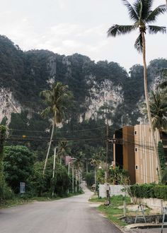 Right outside of Glur Hostel Ao Nang Thailand