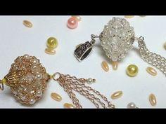 Natali Amapola - YouTube Free Beading Tutorials, Jewelry Making Tutorials, Beading Patterns, Bead Jewellery, Beaded Jewelry, Jewelry Necklaces, Beaded Ornaments, Bead Caps, Beaded Earrings