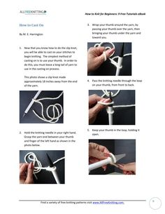 ISSUU - How to knit for beginners 9 free tutorials by ahellersquarespace