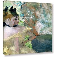 Edgar Degas Dancers in the Wings Gallery-wrapped Canvas Art, Size: 20 x 24, Blue