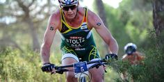 Stoltz (RSA) dug deep but didn't have the race he wanted on the bike.