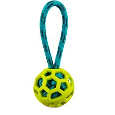 Leaps+&+Bounds+Caged+Rope+Ball+with+Handle+Dog+Toy+in+Green+-+Fling+your+furry+friend+the+Leaps+&+Bounds+Caged+Rope+Ball+for+Dogs+with+Handle+and+watch+them+toss+and+tug+for+hours.+Designed+to+bounce+and+stimulate+your+dogs+senses,+this+interactive+dog+toy+is+a+must+for+pets+on+the+move. - http://www.petco.com/shop/en/petcostore/product/leaps-and-bounds-caged-rope-ball-with-handle-dog-toy-in-green
