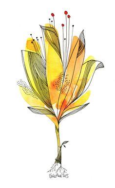 fleur jaune, Cécile Hudrisier