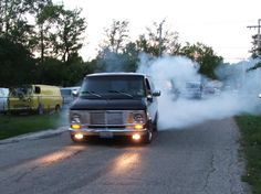 Burnout and See Ya! Custom Paint Jobs, Custom Vans, Chevrolet Van, Gmc Vans, Vanz, Up In Smoke, Mac Pro, Gmc Trucks, Kustom