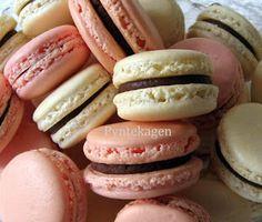 PynteKagen. Raspberry and vanilla macarons
