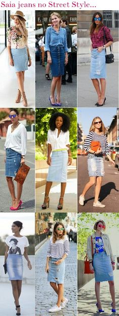 Saia Jeans no Street Style
