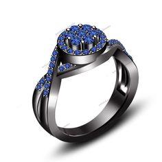 925 Silver Engagement Ring 1.75 CT Round Cut Sapphire Bezel Set Over Twist Shank #br925silverczjewelry #TwistShankStyleBezelSetRing