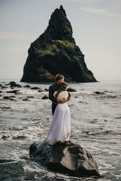 Iceland Elopement - Vik - Bride and Groom - Wear Your Love - Charis Rowland Photography - Destination Wedding Photography - elopement photographer - black sand beach